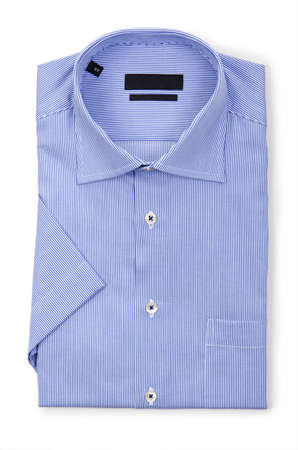 Nice male shirt isolated on the white Stock Photo - 18340448