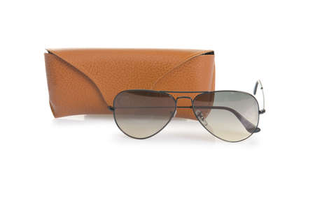 Elegant sunglasses isolated on the white Stock Photo - 18311919