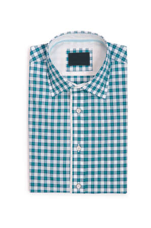 Nice male shirt isolated on the white Stock Photo - 18311912