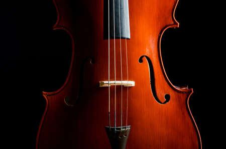 Violin in dark room  - music concept Stock Photo - 18312539