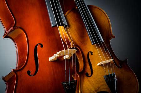 Violin in dark room  - music concept Stock Photo - 18312535