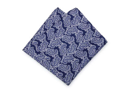 hanky: Handkerchief isolated on the white background