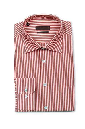 Nice male shirt isolated on the white Stock Photo - 18312884