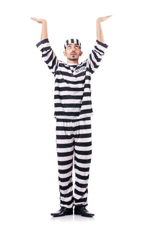 Convict criminal in striped uniform Stock Photo - 18663279