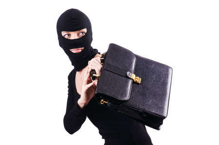 Industrial espionage concept with person in balaclava Stock Photo - 18663585