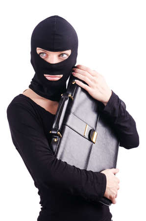Industrial espionage concept with person in balaclava Stock Photo - 18648884