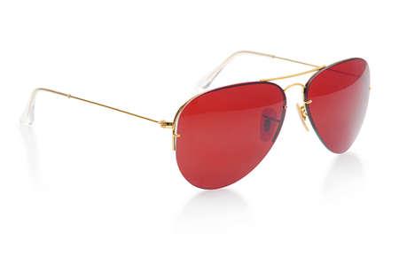 Elegant sunglasses isolated on the white Stock Photo - 18314083