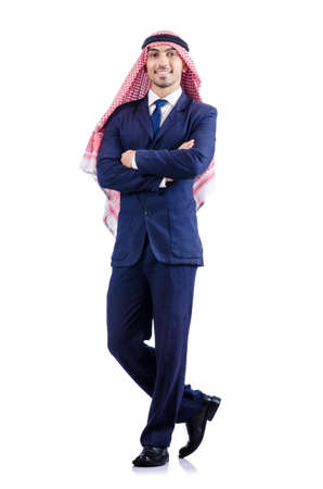 Arab businessman isolated on the white Stock Photo - 18663418