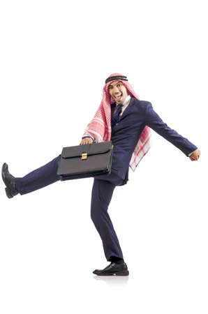 Arab businessman isolated on the white Stock Photo - 18663275