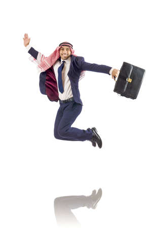 Arab businessman isolated on the white Stock Photo - 18663169