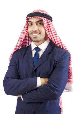 Arab businessman isolated on the white Stock Photo - 18663913