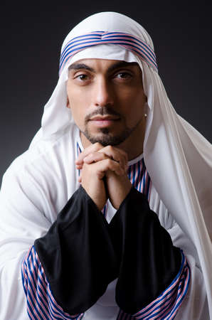 Arab businessman isolated on the white Stock Photo - 18664051