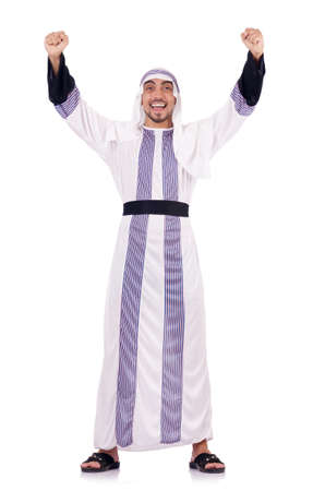 Arab man isolated on the white Stock Photo - 18663972