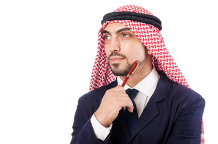 Arab businessman isolated on the white Stock Photo - 18664023