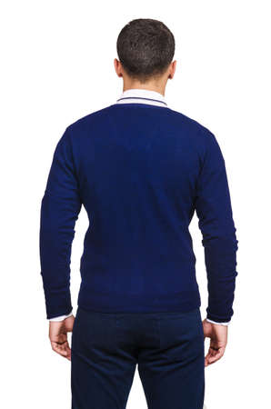 Male sweater isolated on the white Stock Photo - 18511008