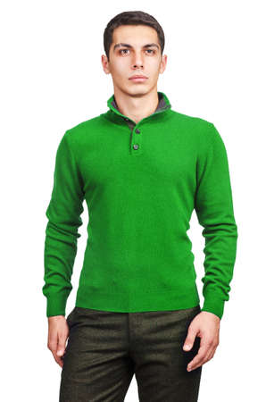 Male sweater isolated on the white Stock Photo - 18652872