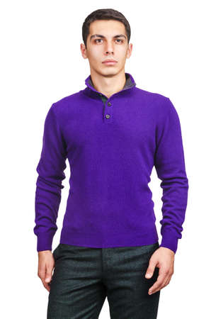 Male sweater isolated on the white Stock Photo - 18652870