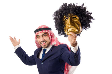 Arab man hypocrisy concept Stock Photo - 18652944
