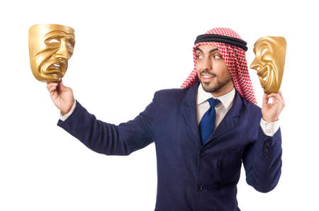 Arab man hypocrisy concept Stock Photo - 18652943