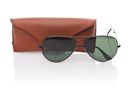 Elegant sunglasses isolated on the white Stock Photo - 18510788
