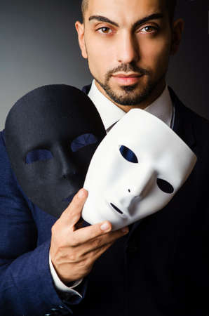 Man with black mask in studio Stock Photo - 18664063