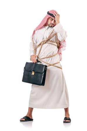 Arab businessman isolated on white Stock Photo - 18606250
