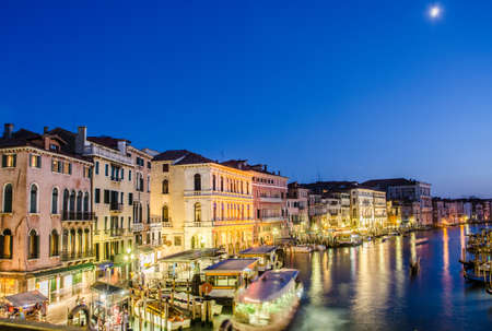 VENICE, ITALY - JUNE 30: View from Rialto bridge on June 30, 2012 in Venice, Italy. Rialto is the biggest bridge in Venice Stock Photo - 18478544