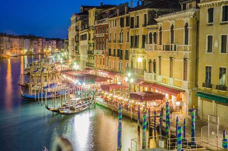 VENICE, ITALY - JUNE 30: View from Rialto bridge on June 30, 2012 in Venice, Italy. Rialto is the biggest bridge in Venice Stock Photo - 18478542