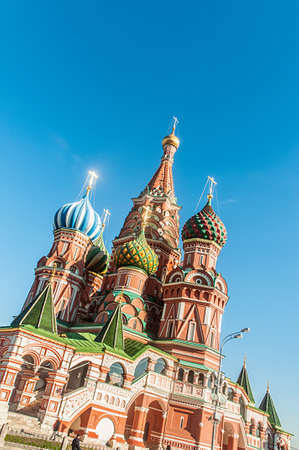 Famous st Vasily Blessed cathedral in Moscow Stock Photo - 18485378