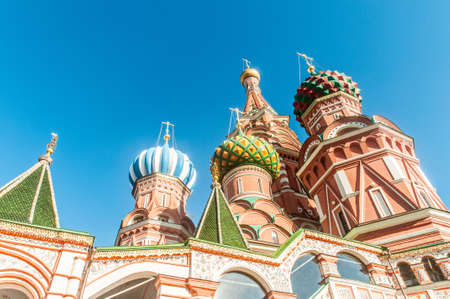 Famous st Vasily Blessed cathedral in Moscow photo