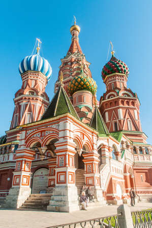 Famous st Vasily Blessed cathedral in Moscow Stock Photo - 18485371