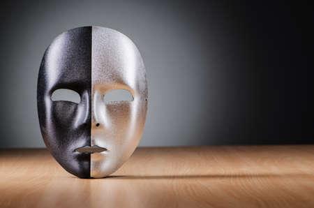 Mask against the dark background photo