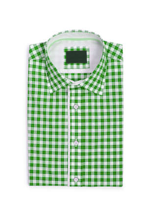 Nice male shirt isolated on the white Stock Photo - 18484672