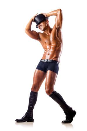 ballet hombres: una bailarina aislado en blanco