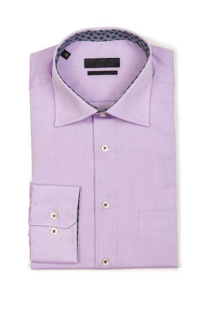 Nice male shirt isolated on the white Stock Photo - 18484800