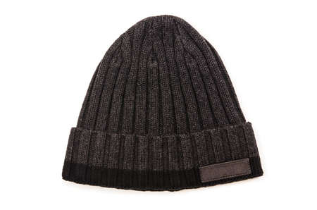 beanie: Beanie hat isolated on the white background