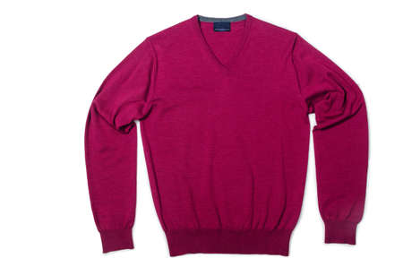 Male sweater isolated on the white Stock Photo - 18485316