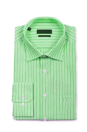 Nice male shirt isolated on the white Stock Photo - 18485998