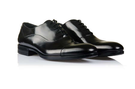 Fashion concept with male shoes on white Stock Photo - 18481303