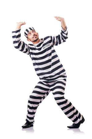 Convict criminal in striped uniform Stock Photo - 18652854