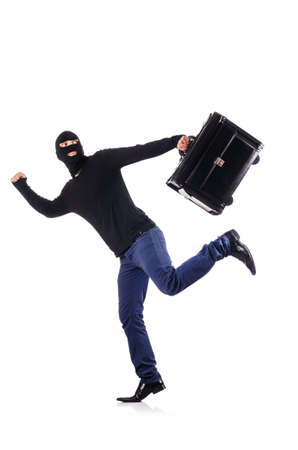 Industrial espionage concept with person in balaclava Stock Photo - 18476598