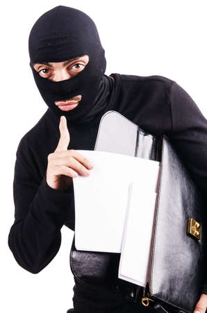 Industrial espionage concept with person in balaclava Stock Photo - 18664698