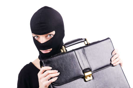Industrial espionage concept with person in balaclava Stock Photo - 18664677