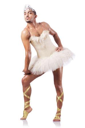 ballet hombres: Ejecutante Muscular ballet en concepto divertido