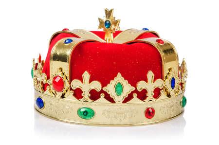 corona de rey: Corona del rey aislado en blanco
