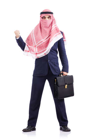 Arab businessman isolated on white Stock Photo - 18664505