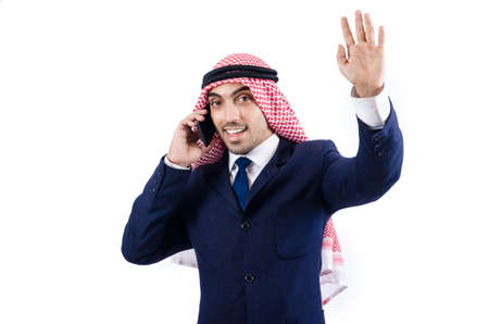 Arab businessman isolated on white Stock Photo - 18664497