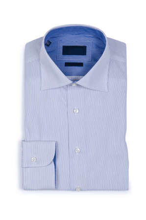 Nice male shirt isolated on the white Stock Photo - 18609376