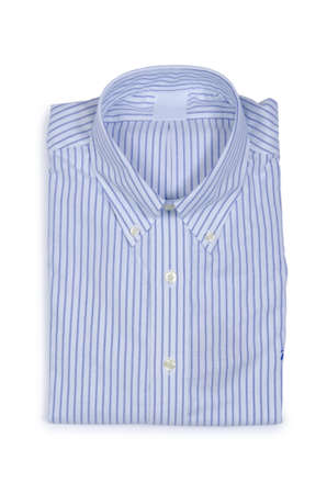 Nice male shirt isolated on the white Stock Photo - 18608932