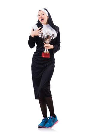 Young nun in religious concept Stock Photo - 18607146